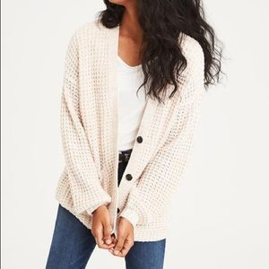 Slouchy Button Cardigan